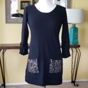 NWT Alfani Knitted Tunic with Front Pockets XS